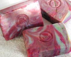 Red Swirl Soap