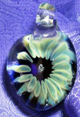 flower bubble pendant